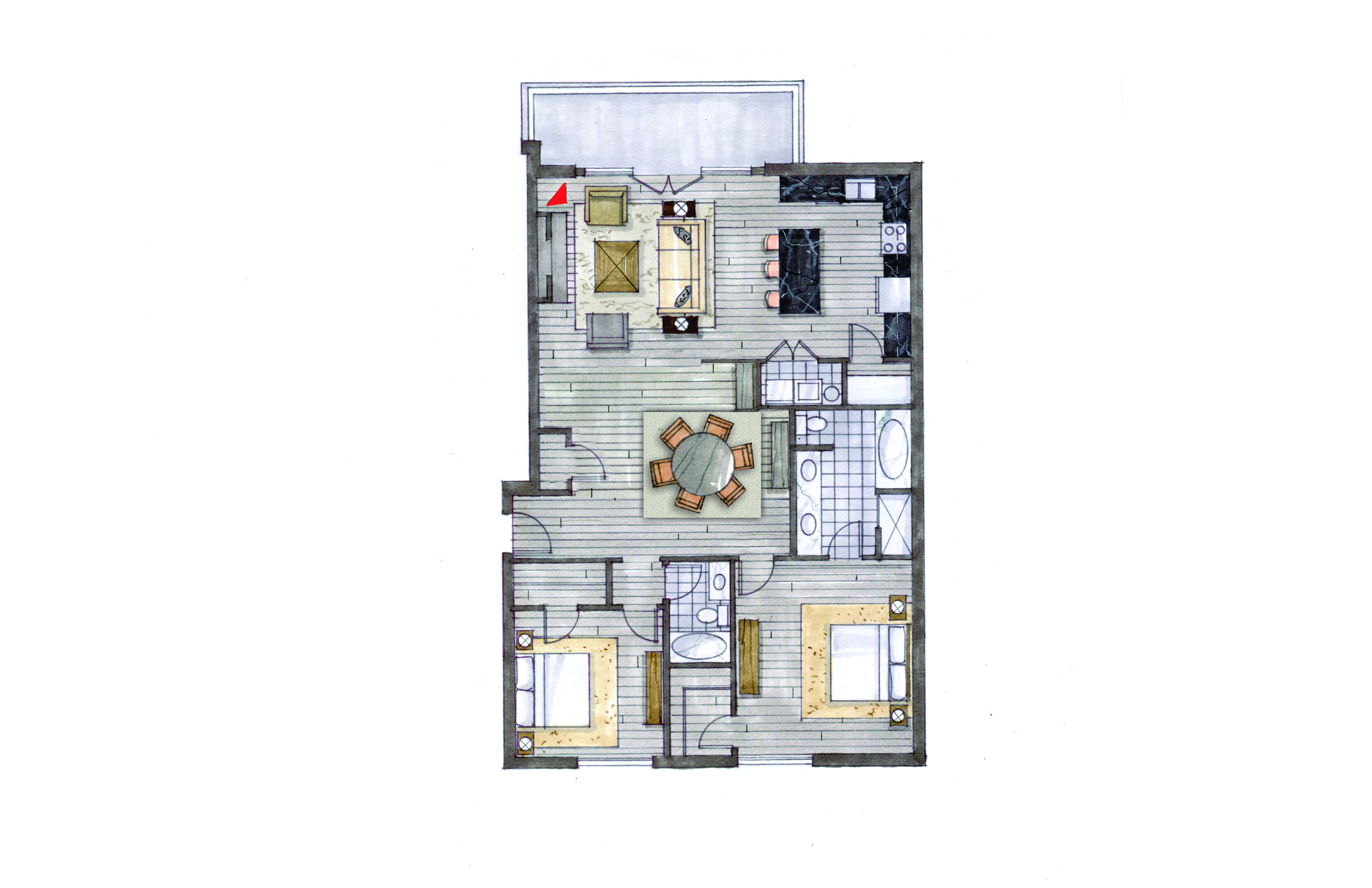 Unit 603 Option 2 Floor Plan